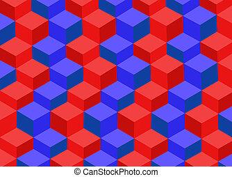 astratto, fondo, 3d, quadrato