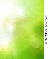 astratto, fondo, bokeh, verde