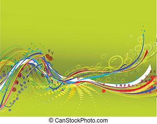 astratto, fondo, composizione, onda