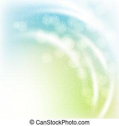 astratto, fondo, effetti, bokeh, luce, rayes, primavera