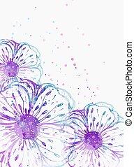 astratto, fondo, florals
