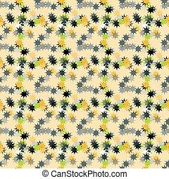 astratto, fondo, giallo, stelle