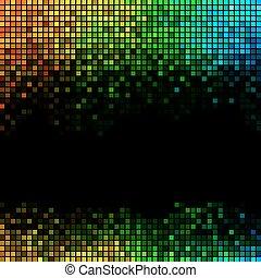 astratto, fondo, luci, discoteca, multicolor