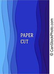 astratto, fondo, manifesti, carta, lines., vettore, taglio, blu, disegno, liscio, opuscoli, style., advertising., volantini, geometrico
