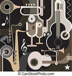 astratto, fondo, -, musica, vettore