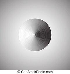 astratto, fondo, round., vector., metallico