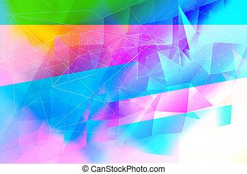 astratto, fondo, sognante, geometrico, multicolor