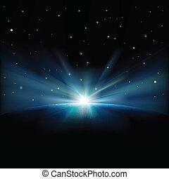 astratto, fondo, stelle, spazio