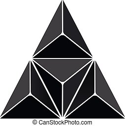 astratto, fondo, triangolo