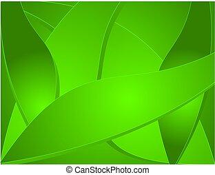 ??, astratto, fondo, vector., verde