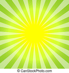 astratto, fondo, verde-giallo, (vector)