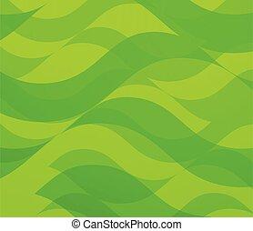 astratto, -, fondo., vettore, verde, onde, fondale