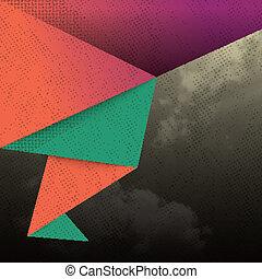 astratto, forma triangolo, fondo
