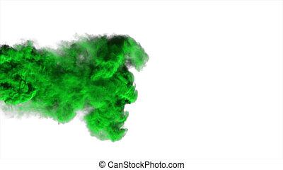 astratto, fumo, fondo, verde bianco