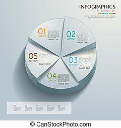 astratto, grafico, torta, infographics