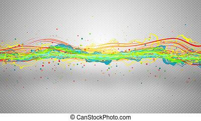 astratto, illustrazione, multicolor, energia, onda