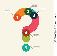 astratto, infographic, domanda, fondo, marchio