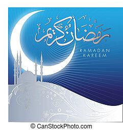 astratto, kareem, ramadan, celebrazione