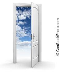 astratto, libertà, cielo, -, porta
