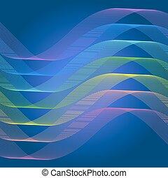 astratto, linea, curva, spettro, fondo