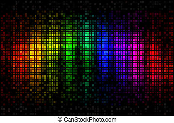 astratto, luci disco, multicolor, fondo, mosaico