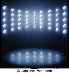 astratto, luci, vettore, sfavillante, fondo, palcoscenico