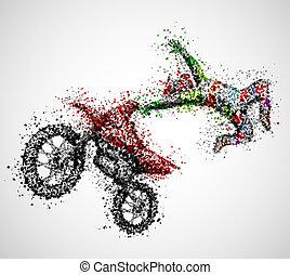 astratto, motociclista