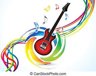 astratto, musica, colorito, fondo