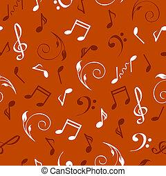 astratto, musicale, illustrazione, seamless, vettore, fondo.