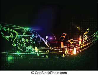 astratto, note musica, disegno