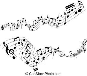astratto, note musica