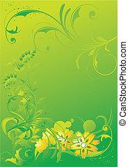 astratto, ornamento, vegetative