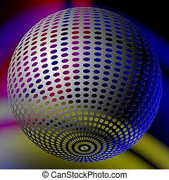 astratto, palla, discoteca