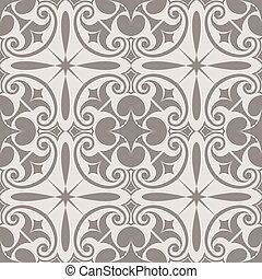 astratto, pattern., seamless, vettore, beige, ornare