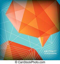 astratto, polygonal, cervello, forma, basso, fondo