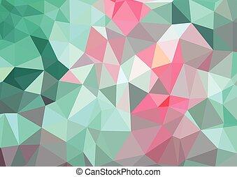 astratto, polygonal, fondo, fractal