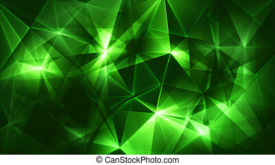 astratto, rete, fondo, verde, trendy, scuro, triangoli