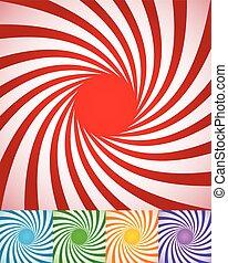 astratto, rotante, lines., sfondi, spirally, radiale, torto