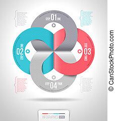 astratto, sagoma, infographics