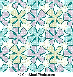 astratto, seamless, fiore, fondo., pattern.