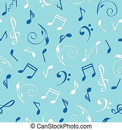 astratto, seamless, illustrazione, fondo., vettore, musicale