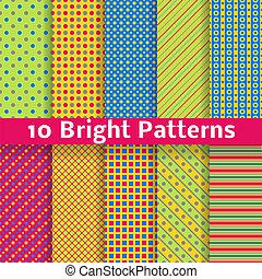 astratto, seamless, modelli, luminoso, vettore, (tiling)., geometrico