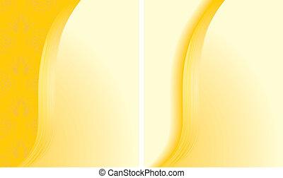 astratto, sfondi, due, giallo
