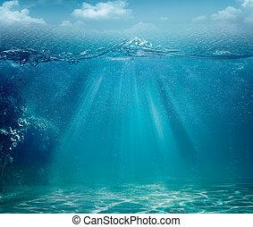 astratto, sfondi, oceano, disegno, mare, tuo
