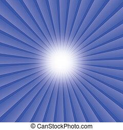 astratto, sfondo blu, scoppio, raggi, stella
