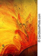 astratto, sfondo giallo, rosso