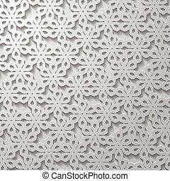 astratto, sfondo grigio, -, floreale, creativo