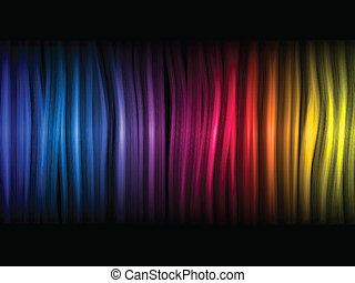 astratto, sfondo nero, colorito, onde