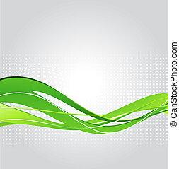 astratto, sfondo verde, onda