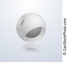 astratto, sphere., 3d